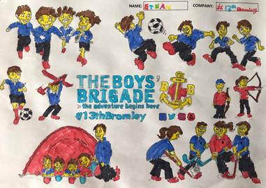 13th Bromley Boys' Brigade Colouring 14.