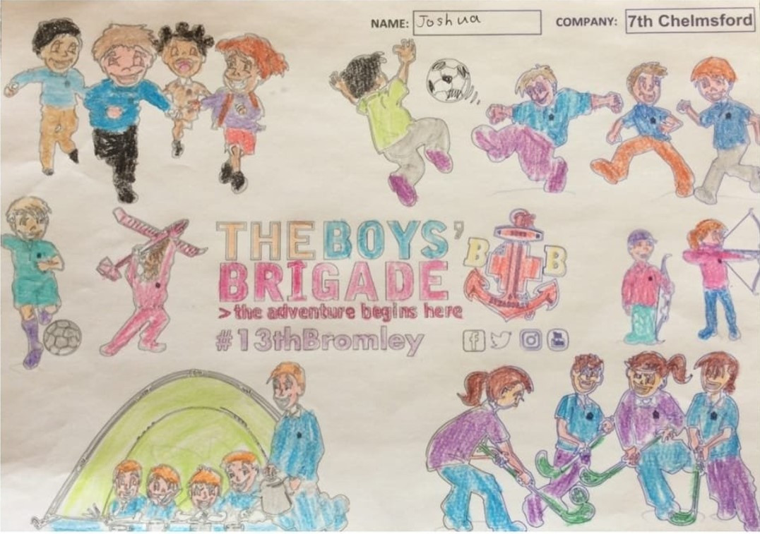 13th Bromley Boys' Brigade Colouring 18.