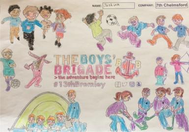 13th Bromley Boys' Brigade Colouring 18.