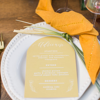 wedding place setting table setting ohio calligraphy modern