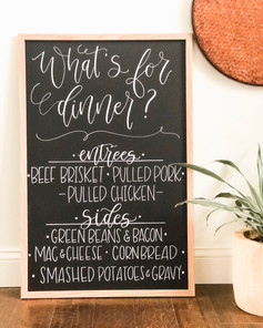 Chalkboard Dinner Menu - wedding