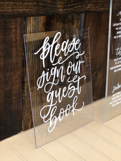 Acrylic guest book sign
