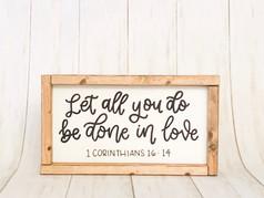 Handmade wood sign - 1 Corinthians