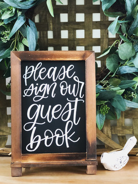 guestbook sign chalkboard ohio calligraphy