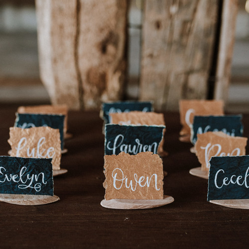 Textured place cards