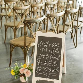 wedding ceremony sign ohio calligraphy