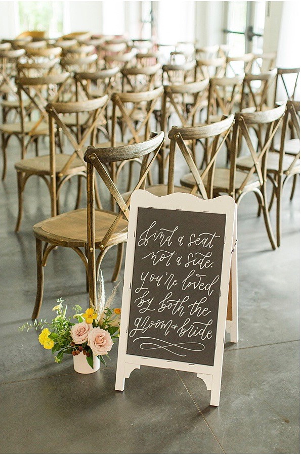 wedding ceremony sign ohio calligraphy