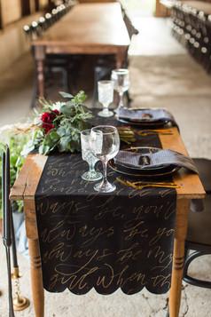 Calligraphy table runner