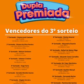 Confira os ganhadores de maio da Promoção Dupla Premiada