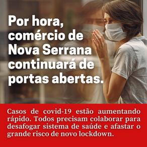 Por hora, comércio de Nova Serrana continuará de portas abertas