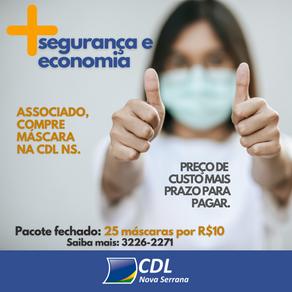 Associado, compre máscara na CDL NS
