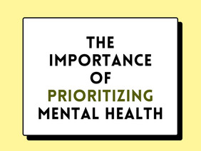 The Importance of Prioritizing Mental Health Policy Paper