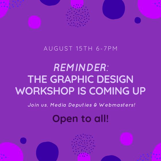 Graphic Design Workshop Recap