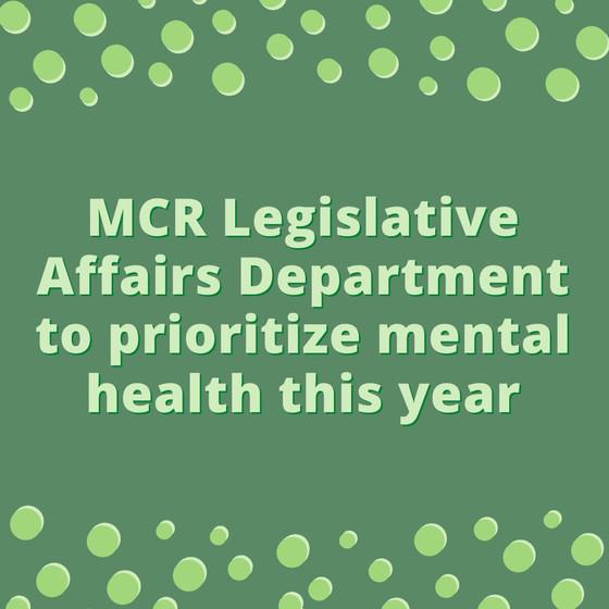 Legislative Affairs Department to Prioritize Mental Health
