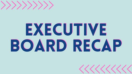 May Executive Board Meeting Recap Translations