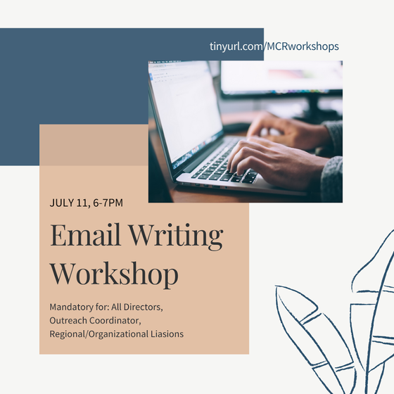 MCR Kicks off Summer Workshops with Email Writing
