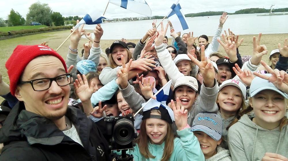 #Suomi100rapin kuvauksista