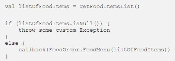Đoạn mã lớp mạng sử dụng ngoại lệ