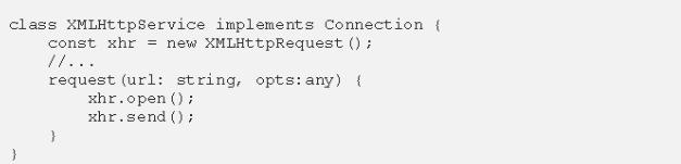 triển khai lại lớp XMLHttpService
