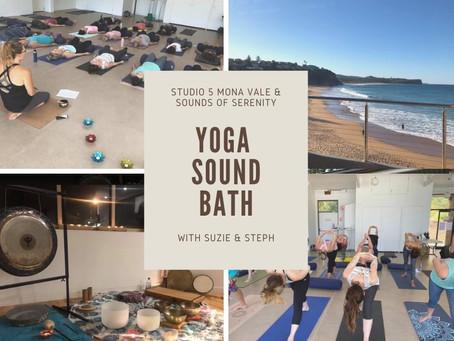 Yoga Sound Bath 4th June 6.30pm Warriewood SLSC