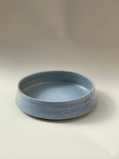 Blue  walled plate, 210mm w x 500 mm h, 1-3234
