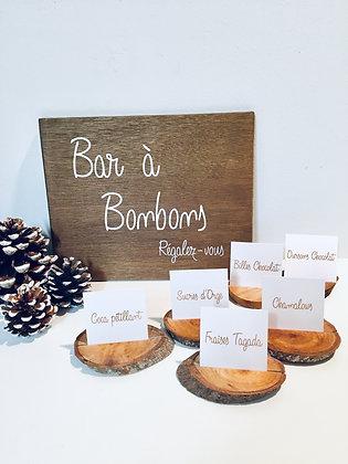 """Panneau bois """"BAR A BONBONS"""""""