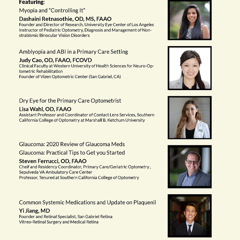 SGVOS Clinical Optometry Symposium 2020