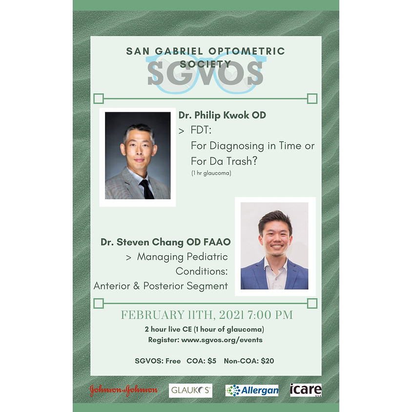 SGVOS February Virtual CE