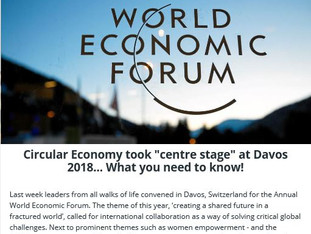 """Circular Economy took """"centre stage"""" at Davos 2018"""
