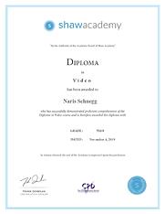 Shaw Academy-Diploma-Videography Naris Schnegg