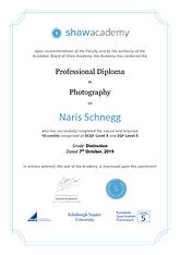 Shaw Academy-Diploma-Photography Naris S