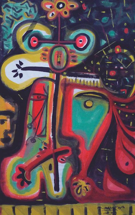 """""""Octúbre 1999"""" año:1999 I Téc.: Pigmentos sobre papel arte"""