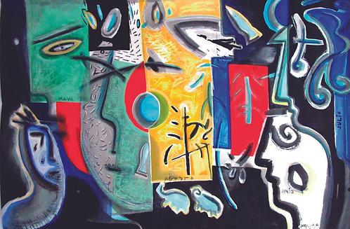 """""""Calendario"""", Año:1999 I Téc.: pigmentos sobre papel arte."""