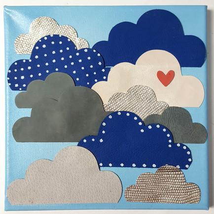 Wolken aus Leder