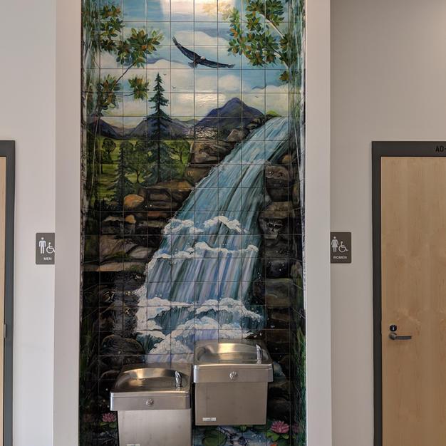 NH Waterfall, Tile Mural