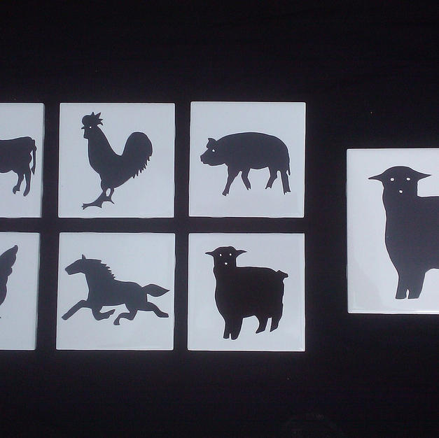 Farm Animal Silhouette Tiles