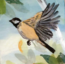 Chickadee, Individual Tile from Mural