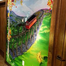 Cog Railway Children's Mural