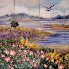 Flora of Hampton, NH Tile mural