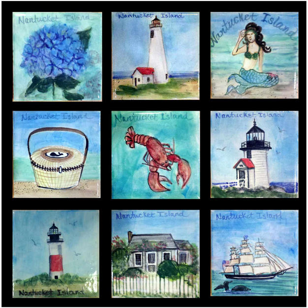 "Nantucket 4"" Accent Tiles"