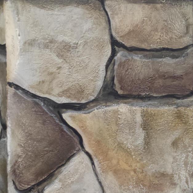 Faux Stone Wall Closeup