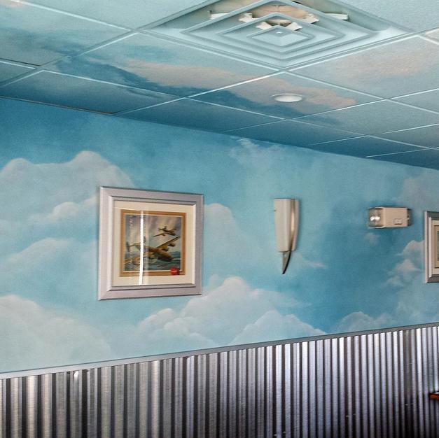 Sky Mural, Airport Diner