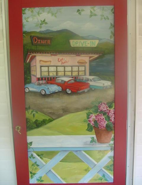 Trompe L'oeil Door, Tiltn'Diner