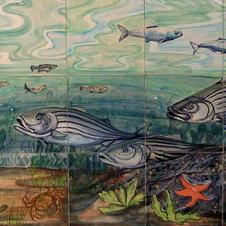 Hampton beach Fish Tile Mural