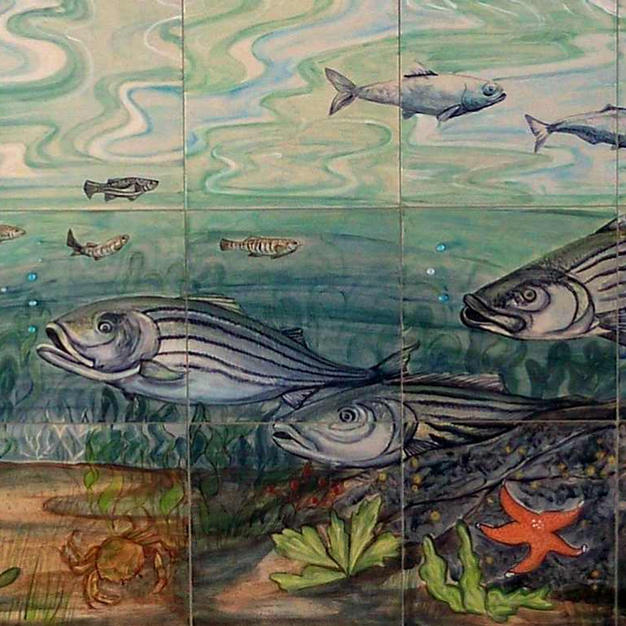 Hampton beach Fish Tile Mural