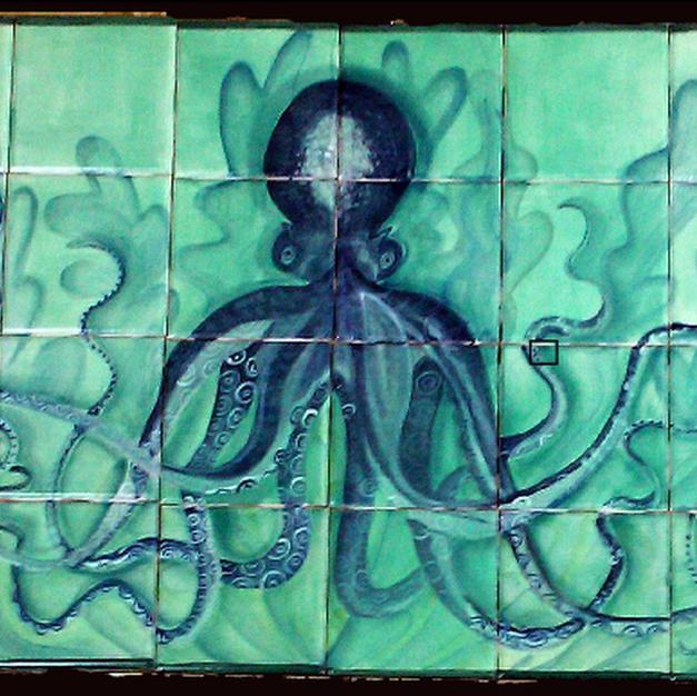 Octopus Tile Mural