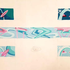 Googie stle wall mural concept
