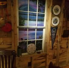 Camp Reataurant Window Mural