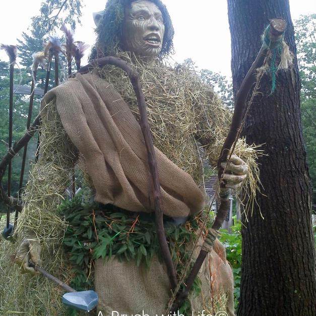 Centaur Hay Sculpture Close-up