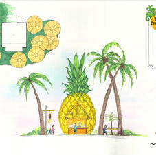 Pineapple Hut Conceptual Drawing